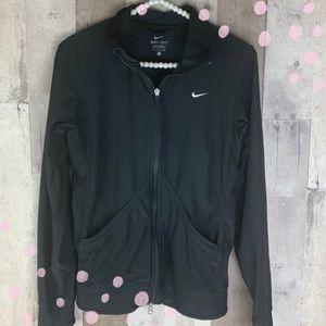 Black Nike zip up sweatshirt size small